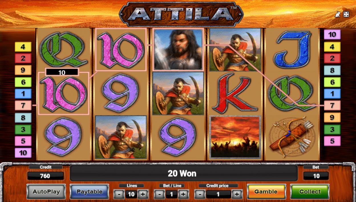 Игровой автомат attila играть онлайн